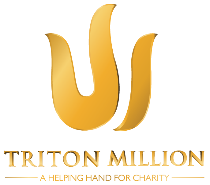 TRITON MILLION a helping hand for charity logo